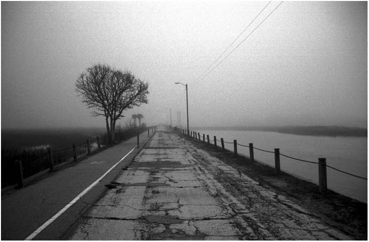 Black And White Abandoned Road